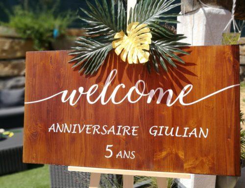 Décoration de table pour un anniversaire La Crau proche de Toulon.